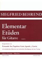 Elementar-Etüden für Gitarre. Band 1
