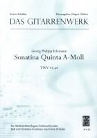Sonatina Quinta a-Moll TWV 41:a4