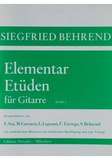 Elementar-Etüden für Gitarre. Band 2